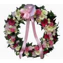 Coroane funerare gerbera si trandafiri