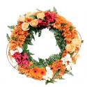 Coroana funerara gerbera, crizanteme, orhidee