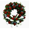 Coroana funerara trandafiri si cale
