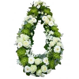 Coroana funerara trandafiri, orhidee si crizanteme