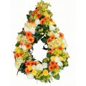 Coroana funerara multicolora