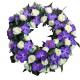 coroane funerare rotunde din orhidee vanda