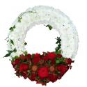 Coroane funerare crizanteme si trandafiri