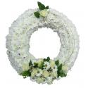 Coroane funerare crizantema si trandafiri