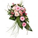 Jerba funerara trandafiri, gerbera, garoafe
